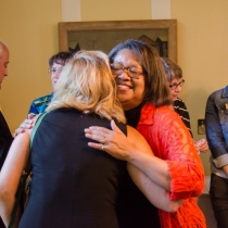 President Conway-Turner giving a hug