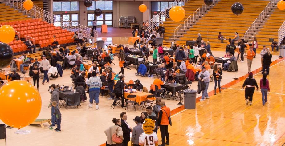 Crowd shot in gymnasium