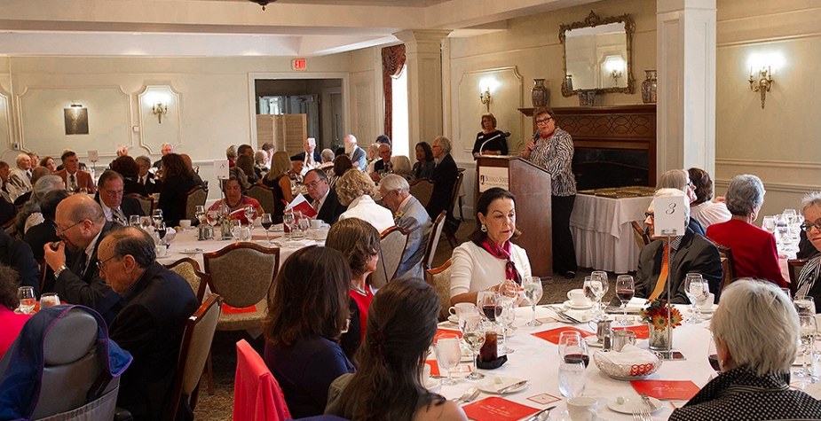 Attendees at Peterson Society luncheon
